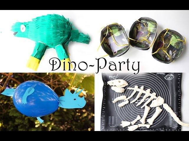 DIY Spiele und Deko für Dino Geburtstag | Dinosaurier Pinata, Eier und Knochen selber machen