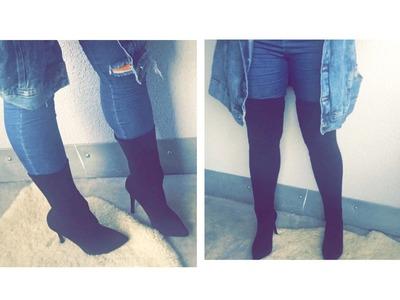 DIY Yeezy Low Kit Heels & Overknees mit Socken I Marina Si