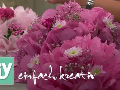 Blumen aus Seidenpapier | DIY einfach kreativ