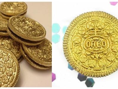 DIY METALLIC GOLD OREOS!