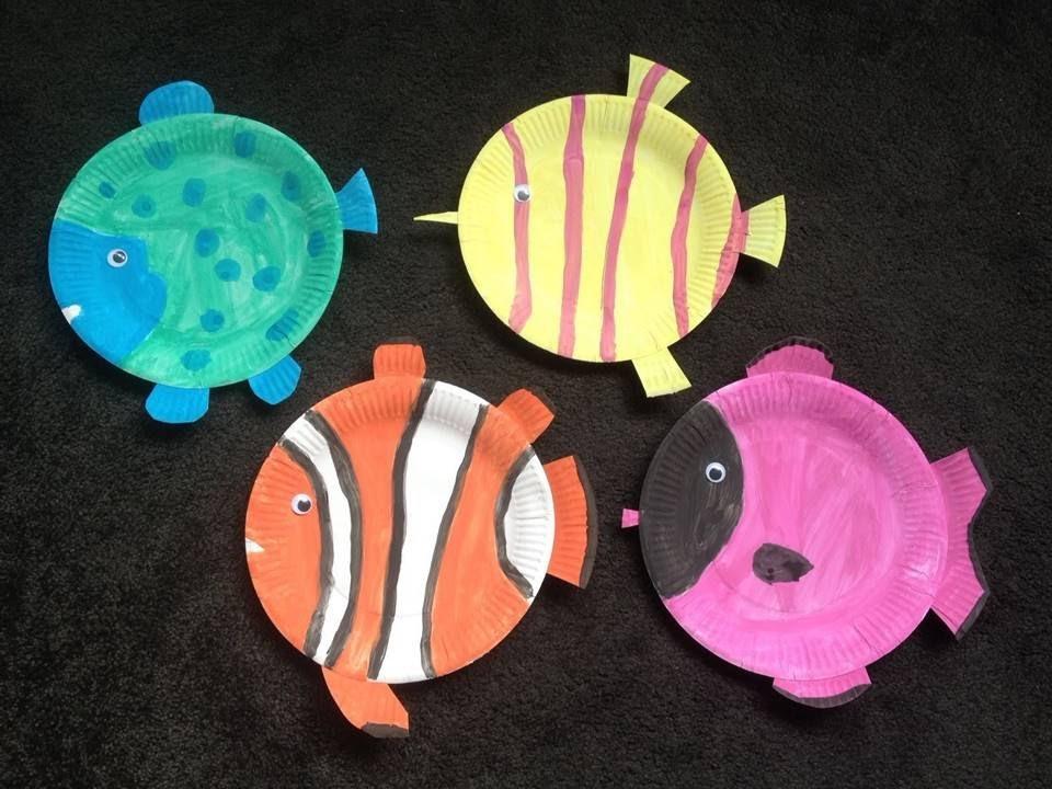 DIY Papptellerfische | Basteln mit Kindern