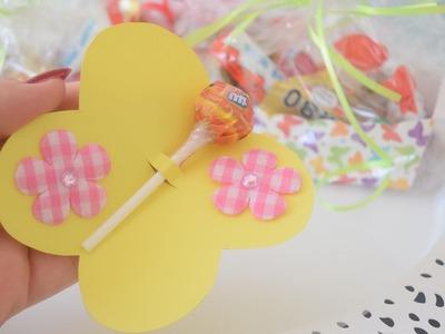 DIY Schmetterlings Geburtstagseinladungen und Mitbringsel