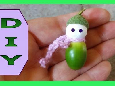 Herbst - Basteln ● DIY ● Süßes Püppchen aus einer Eichel  * Julebuergerfee