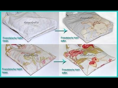 Tasche mit französischer Naht nähen - DIY - 2 Varianten