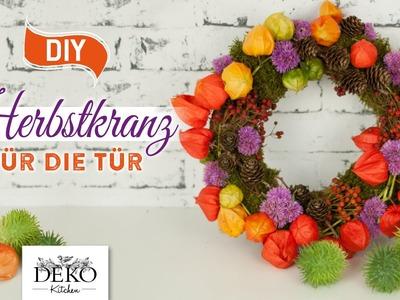 DIY: farbenfoher Herbst-Türkranz aus Naturmaterial [How to] Deko Kitchen