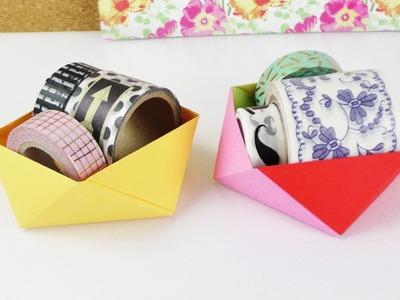 DIY Schreibtischaufbewahrung | Origami Idee | Super praktisch & schön | Deko Idee | Room Deko