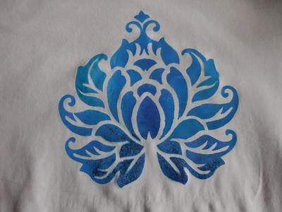 #DIY Shirt mit Acrylfarbe & Schablone verzieren