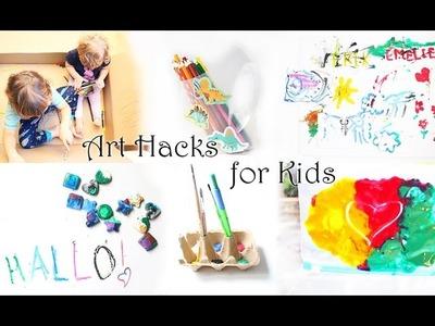 Mom Hacks: Tipps und Tricks rund ums Malen für Kinder | DIY Stiftehalter, Malen ohne Sauerei