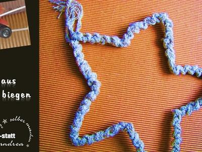 DIY Basteln - Stern aus Draht biegen. Crafts - DIY  Star of Wire