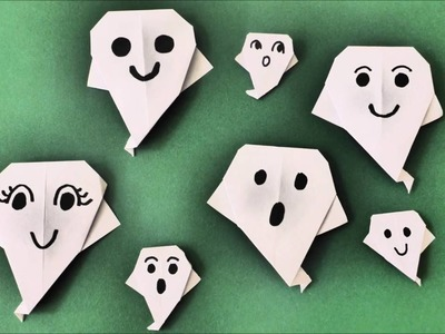 DIY ORIGAMI HALLOWEEN GEIST, SCHNELL UND EINFACH, QUICK AND EASY PAPER CRAFTS, IDEAS  GHOST
