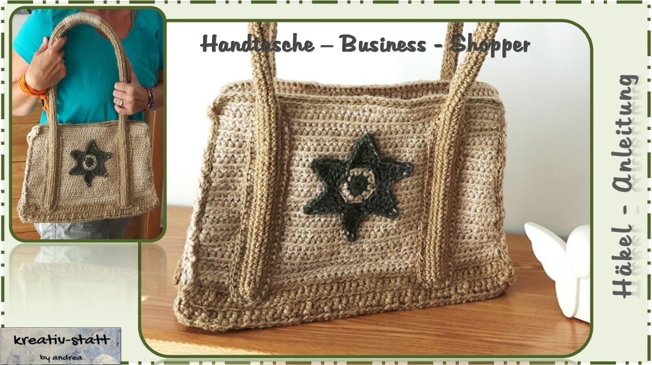 h keln tasche business shopper crochet bag. Black Bedroom Furniture Sets. Home Design Ideas