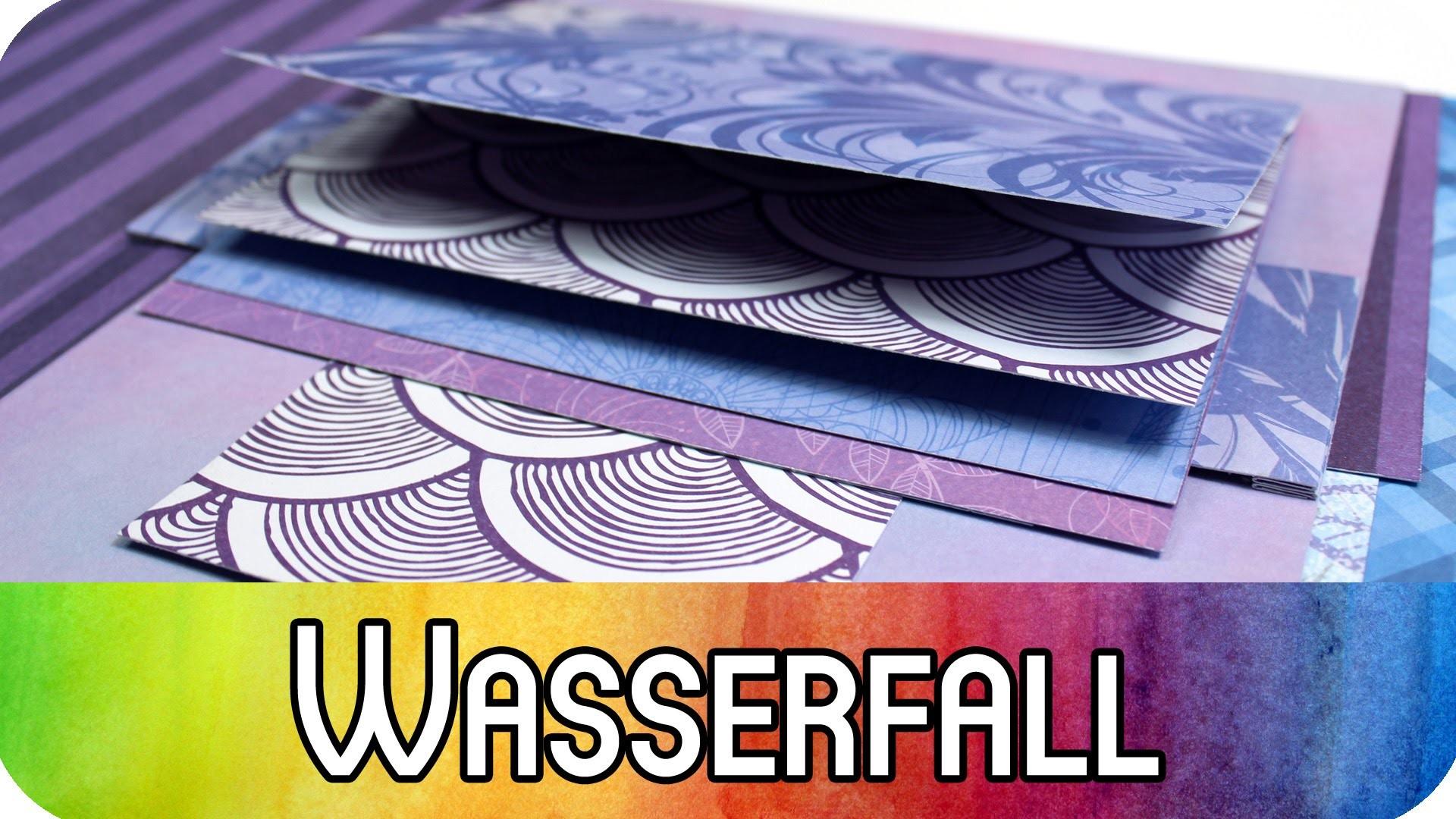 How to: Grundtechnik Scrapbook Wasserfall   Scrapbooking & Karten Tutorial   kreativbunt
