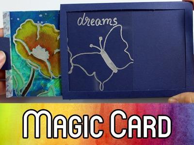 How To: Magic Card Tutorial | Ziehkarte mit wechselndem Hintergrund selber machen | kreativbunt