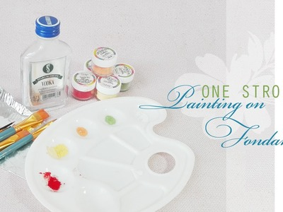 How to paint on fondant with edible powder colors