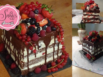 Naked Cake-Geburtstagstorte.birthdaycake. how to make by Sanny´s e-Sport Torten