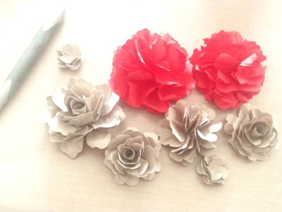 Papierblumen Tutorial für alle Handstanzen von Stampin' Up! | paper flowers made from SU punches