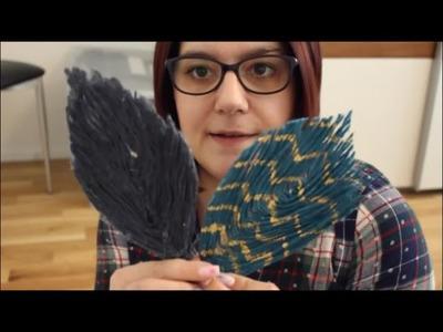 DIY: Federn aus Garn und Wäschesteife basteln - einfach