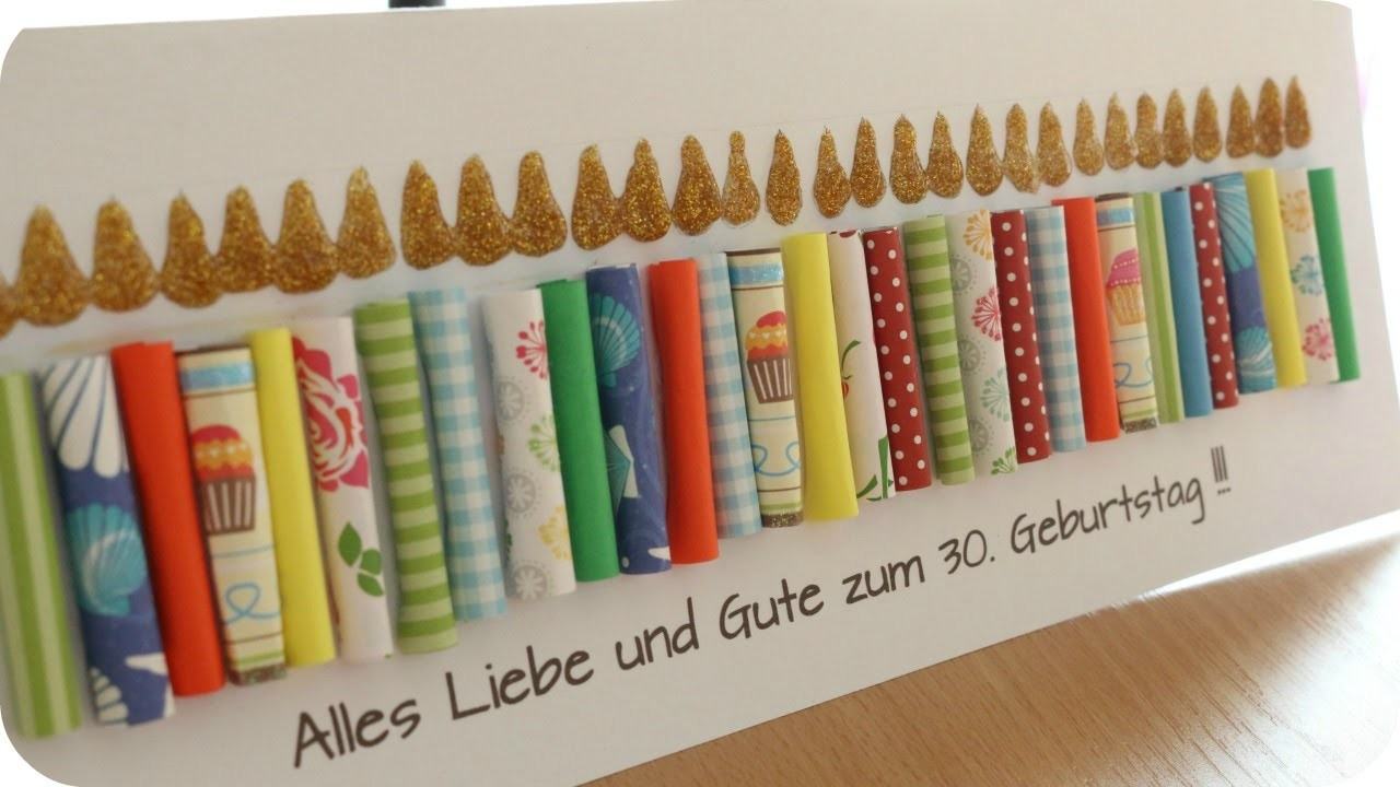 DIY | Geburtstagskerzen | Karte zum Geburtstag | SWEETLIFESUNSHINE