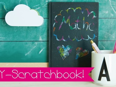 DIY SCRATCHBOOK I SCRATCH DRAWING I KINNERTiED #74