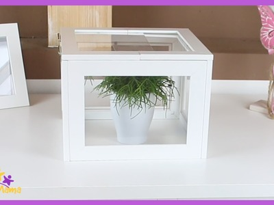 DIY Mini-Gewächshaus aus alten Bilderrahmen - UPCYCLING. Miniature Greenhouse. Täglich Mama