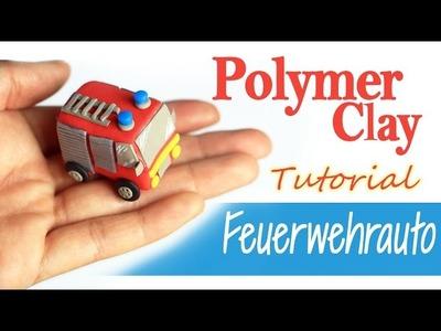 【DIY ♡ Polymer Clay 】Feuerwehrauto