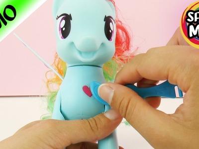 Rainbow DashMy little Pony macht Saltos | Pony mit Rubbeltattoos dekorieren und stylen | Rainbow