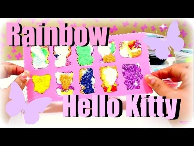 Rainbow Hello Kitty aus Wolkenschleim | DIY selber machen | 9999 Dinge - DIY, Basteln & Trends