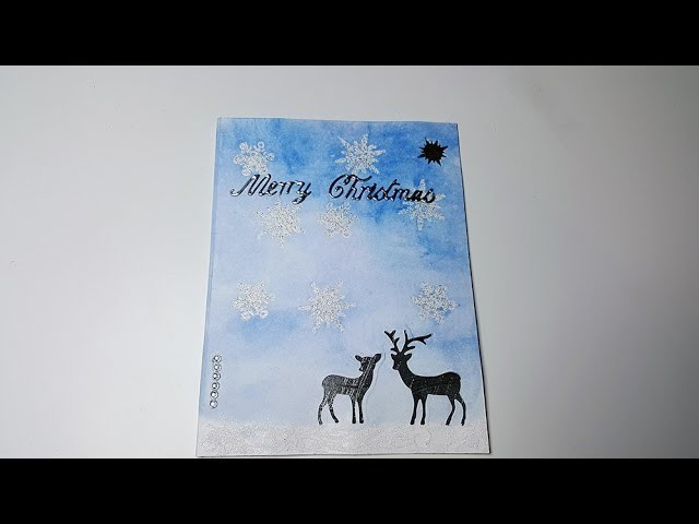 Watch me craft Weihnachtskarte. Christmas Card