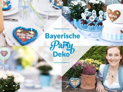 BAYERISCHE PARTY DEKO | DIY | NOAHS TAUFE