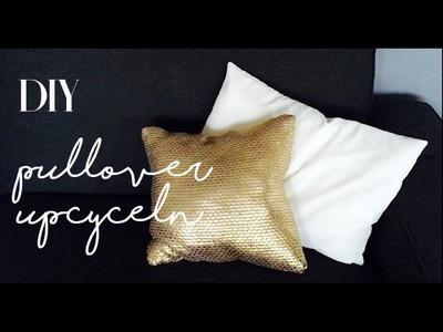 DIY deutsch Zimmerdeko| aus alt mach neu | Kissenbezug selber machen | Idee no.6