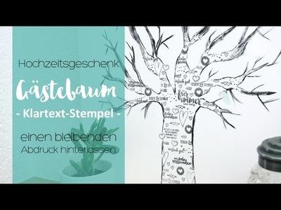 DIY Gästebuch - Baum auf Leinwand | Hochzeitswoche | danipeuss.de