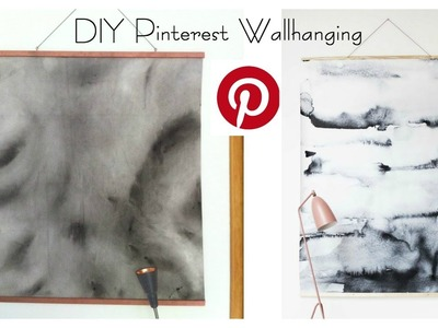 DIY Pinterest Wallhanging Watercolor