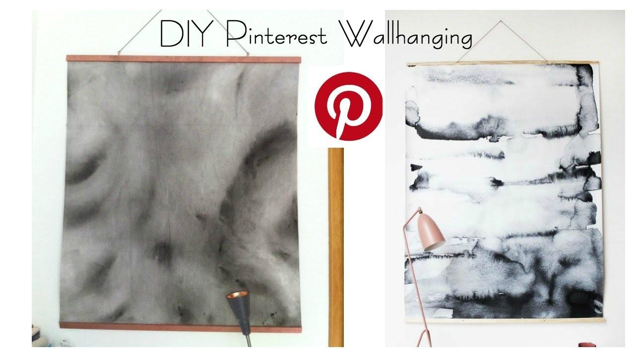 DIY Pinterest Wallhanging Watercolor