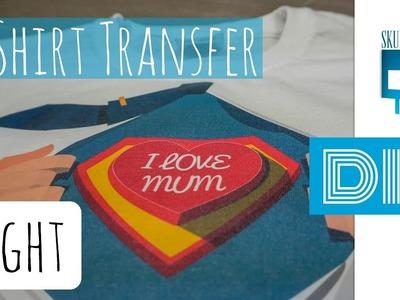 DIY Shirt - Textiltransferfolie für helle Stoffe zum Aufbügeln - Tutorial