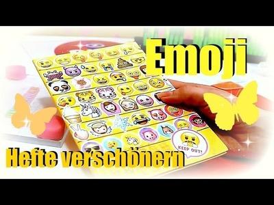 Emoji Heft | Tutorial Hefte verschönern | Back to School deutsch | 9999 Dinge - DIY, Basteln & Ideen