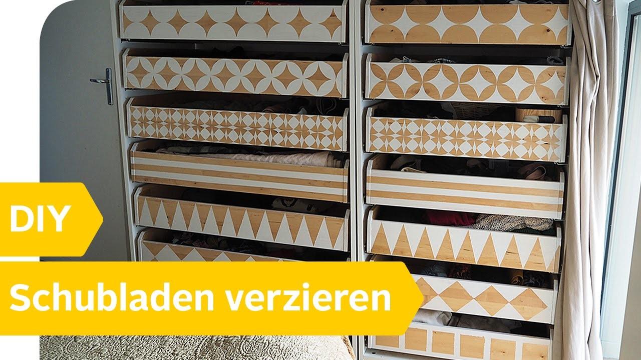 diy anleitung schubladen selbst neu gestalten verzieren roombeez powered by otto. Black Bedroom Furniture Sets. Home Design Ideas