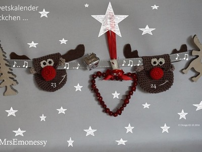 Adventskalender DIY Häkeln so süß Rudolf the red nose . . . .