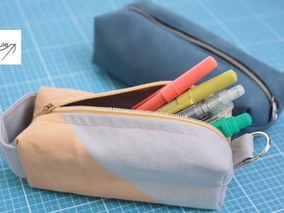 Stiftemäppchen nähen: Back to School – DIY Eule