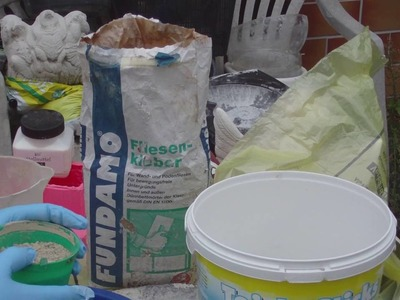Beton giessen - DIY - Knetbeton - Das Rezept! Variante 2 - mit Fliesenkleber