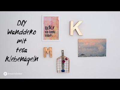 DIY Wanddeko mit tesa Klebenägeln