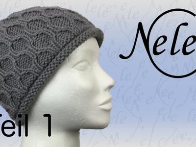 Mütze stricken für Anfänger, Strickmütze mit Wabenmuster, DIY - Anleitung by Nele C.