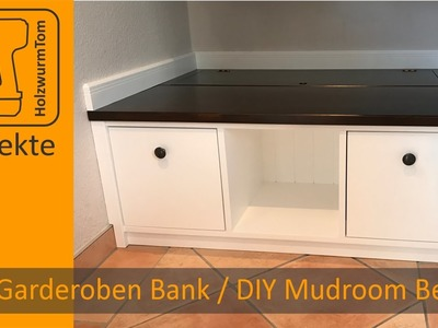 DIY Garderoben Bank. DIY Mudroom Storage Bench (with english subtitle)