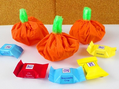DIY Halloween Geschenk Tüten | Mini Kürbise selber machen | Super einfache Party Idee | Fun