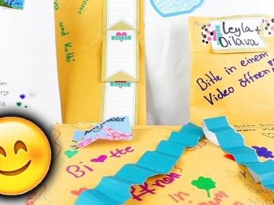 DIY INSPIRATION Fanpost auspacken | Vielen Dank für die tollen Briefe! | Eva & Kathi bekommen POST