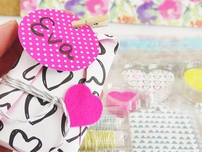 Geschenk verpacken mit dem Tchibo Verpackungsset | DIY Kleinigkeit verschenken