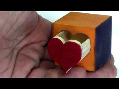 ᐉ How to make a little heart box with a puzzle lock