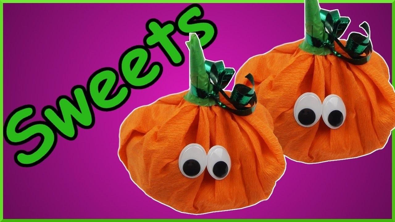 DIY Halloween | Geschenk Verpackung Süßigkeiten | Kürbis |Trick or treat | Sweets gift wrap pumpkin
