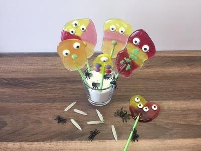 DIY Halloween Lutscher. Lollys herstellen, Basteln mit und für Kinder
