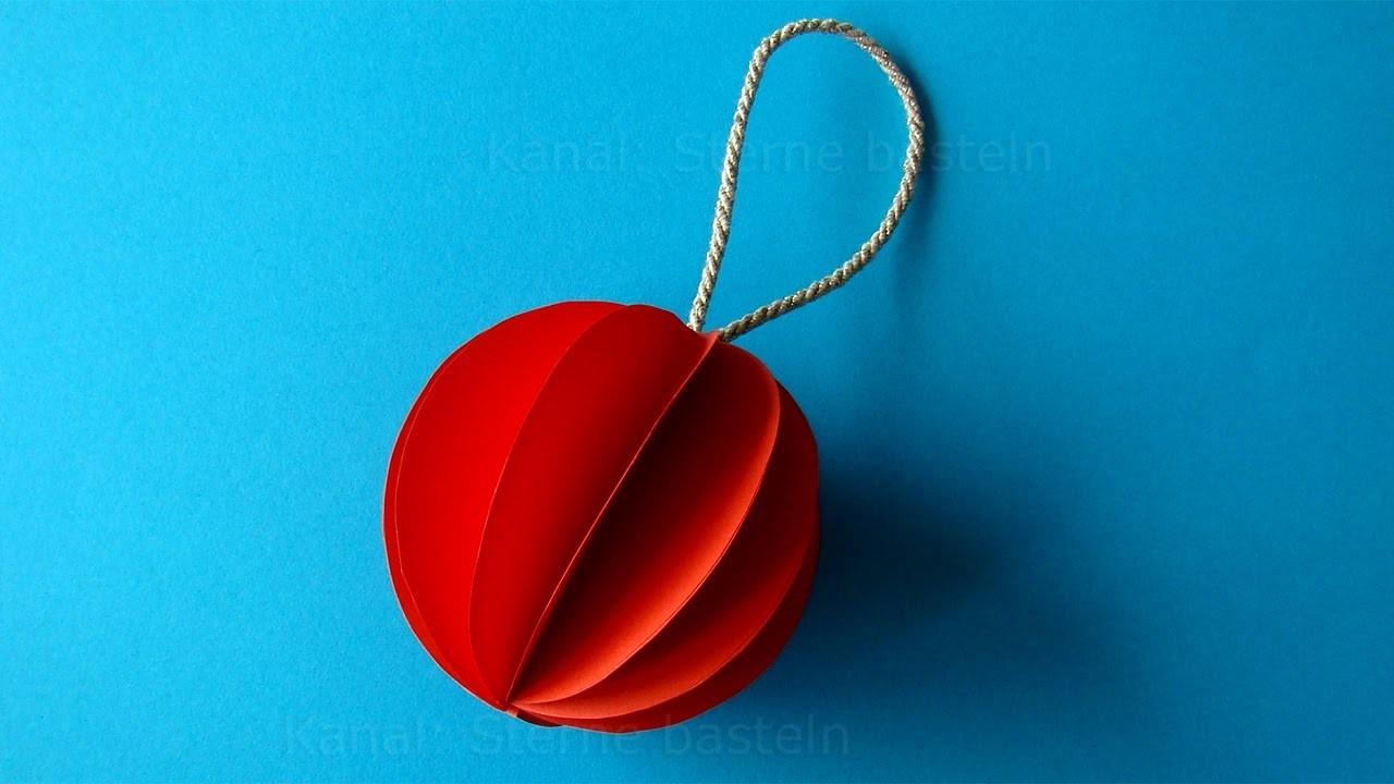 Bemerkenswert Weihnachtsdeko Aus Papier Galerie Von Weihnachtsdeko: Christbaumkugeln Basteln Mit Für Weihnachten -