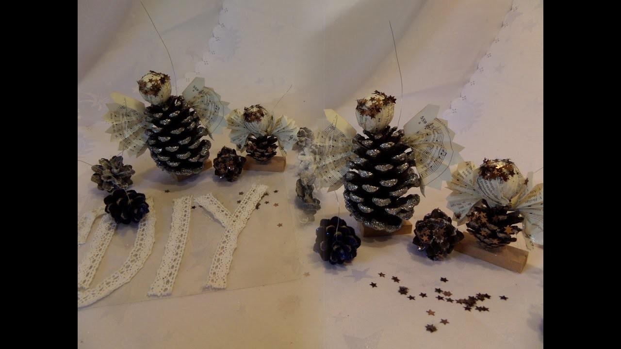 DIY by kekaplauderei : DEKO Weihnachts-Zapfen basteln, schön für Kinder TIPPS+TRICKS